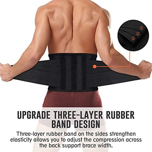 SHAPERX Waist Trainer Belt Body Shaper Belly Wrap Trimmer Slimmer Compression Band for Weight Loss Workout Fitness