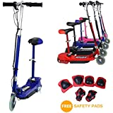 E-Scooter von EGlide–120W Elektro-Scooter mit Kindersitz, Kinder-Scooter mit abnehmbaren Sitz + Sicherheitspaolster