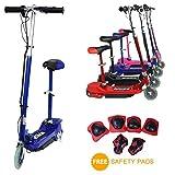 Eglide E-scooter–Monopattino elettrico 120W per bambini con sedile rimovibile + protezioni di sicurezza