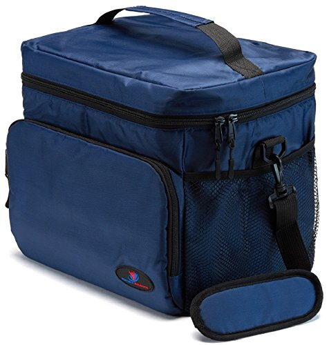 Insulated Lunch Box for Men | Lunch Cooler Bag | Lunch Boxes for Adults | Large Lunch Bag | Nylon Mens Lunch Box by Ramaka Solutions | Non-Toxic Food Grade - Last Golf Bag Xxl