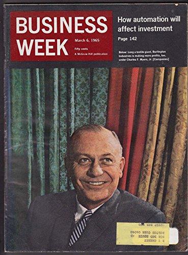 Business Week Charles F Myers Jr Burlington Industries F 111A Fcc Cbs   3 6 1965