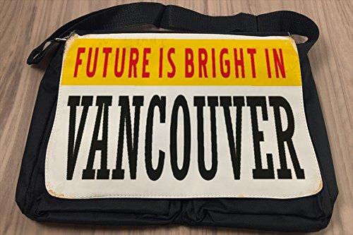 Borsa Tracolla Voglia Viaggiare Città Vancouver Canada Stampato