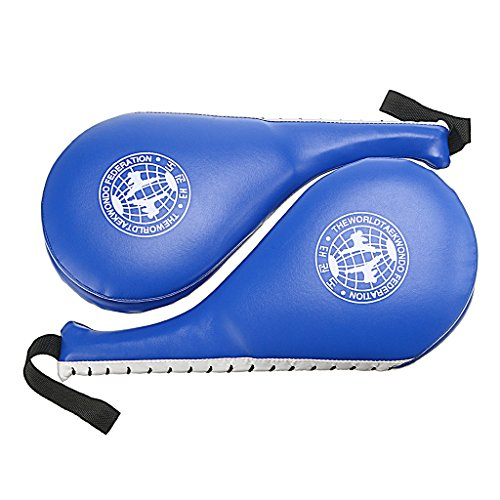 Hipiwe Taekwondo Kick Pad Target Durable TKD Kicking Targets Training Paddles Double Face Tae Kwon Pads 2 Packs(Blue) - Kicking Target
