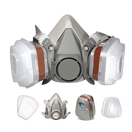 Hamkaw Respirador para Protección contra Polvo y Química, Mascara Antigas, para Decoración, Agricultura