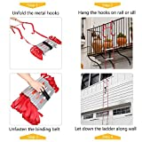 LUISLADDERS Fire Escape Ladder 2 Story with