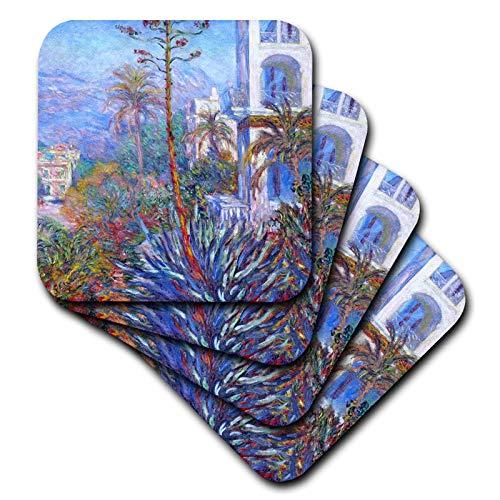 3dRose VintageChest - Masterpieces - Claude Monet - Villas at Bordighera - set of 8 Ceramic Tile Coasters (cst_303353_4)