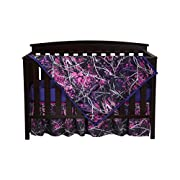 Carstens Muddy Girl Camo 3 Piece Crib Sheet Set, Purple