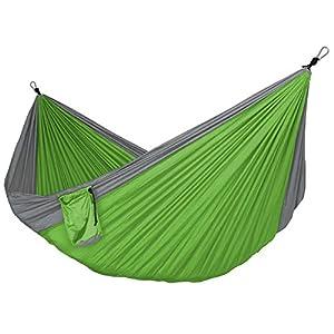 Doppel- und Einzel Camping Hängematten Ultra Tragbare Nylon-Fallschirm...