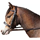 Sheldon Quality Leather Hunter Bridle With Plaited Browband and Rubber Reins