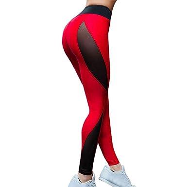 SHOBDW Pantalones Deportivos Mujeres Cintura Alta Deportes ...