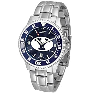 NCAA Brigham Young University Mens Stainless Watch COMPM-AC-BYC