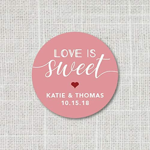 9:26 Favor Stickers Custom Wedding Stickers Welcome Bag Stickers Love is Sweet Stickers