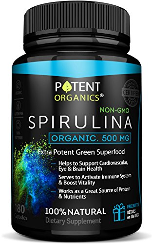 Eco Pure Spirulina 500 Vegetarian Non Irradiated