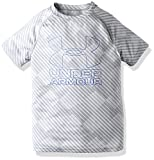 Under Armour Boys Big Logo Printed T-Shirt,Overcast Gray /Ultra Blue, Youth X-Small