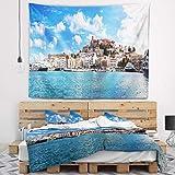 Designart TAP7225-39-32 Panorama of Ibiza Spain Wall Tapestry, Medium/39'' x 32''