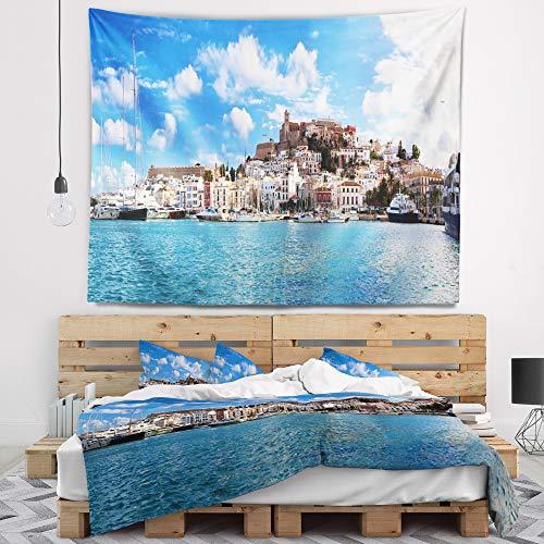 Designart TAP7225-39-32 Panorama of Ibiza Spain Wall Tapestry, Medium/39'' x 32'' by Designart