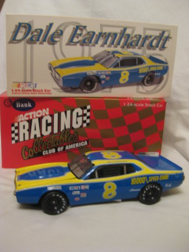 Dale Earnhardt #8 1975 RPM Dodge. (Clear Window Bank) 1/24 Scale Diecast. Original 1998 Issue. 1 of 12,500. from Action Racing Collectables