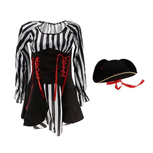 Club Capitán Encantador con D Fiesta DOLITY Estilo Sombrero Cautivador Ayuda de Vestido g41Sqw1