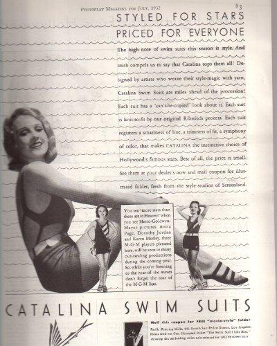 Anita Louise Swimsuit ad Clipping Magazine Photo orig 1pg 8x10 Photo K9236