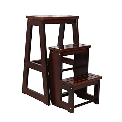 Admirable Amazon Com Wood Step Stool Folding 3 Step Ladder Small For Ocoug Best Dining Table And Chair Ideas Images Ocougorg