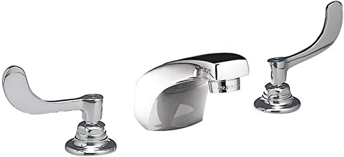 American Standard 6500.175.002 Monterrey 0.5 Gpm Widespread Lavatory Faucet with VR Wrist Blade Handles Less Drain, Polished Chrome