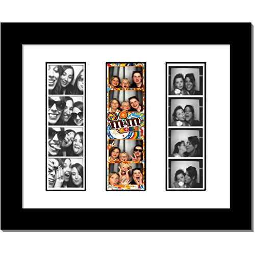 CreativePF- [pbw8x10bk-w] Triple Photo Booth Frame Holds 3-2x6 with White Mat to Display, Cherish and Preserve your Wedding Memories ()