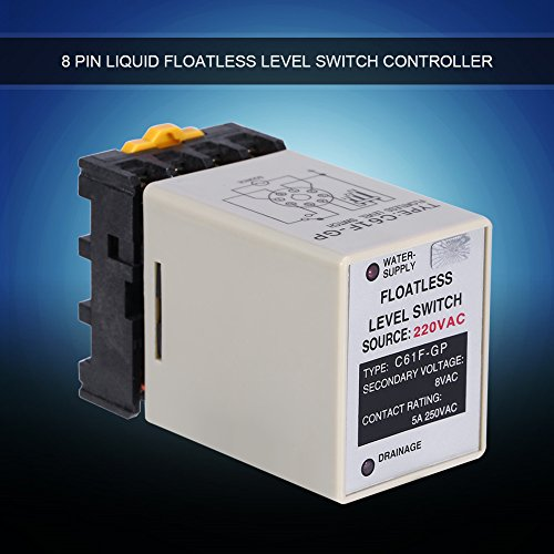 Akozon C61F-GP AC220V 50/60HZ Liquid Floatless Level Switch Controller with Base by Akozon (Image #5)
