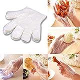 100/1000PCS Plastic Transparent Disposable Gloves Food Prep Gloves Cleaning Gloves Safety Work Gloves for Kitchen Restaurant Woodworking (100PCS)