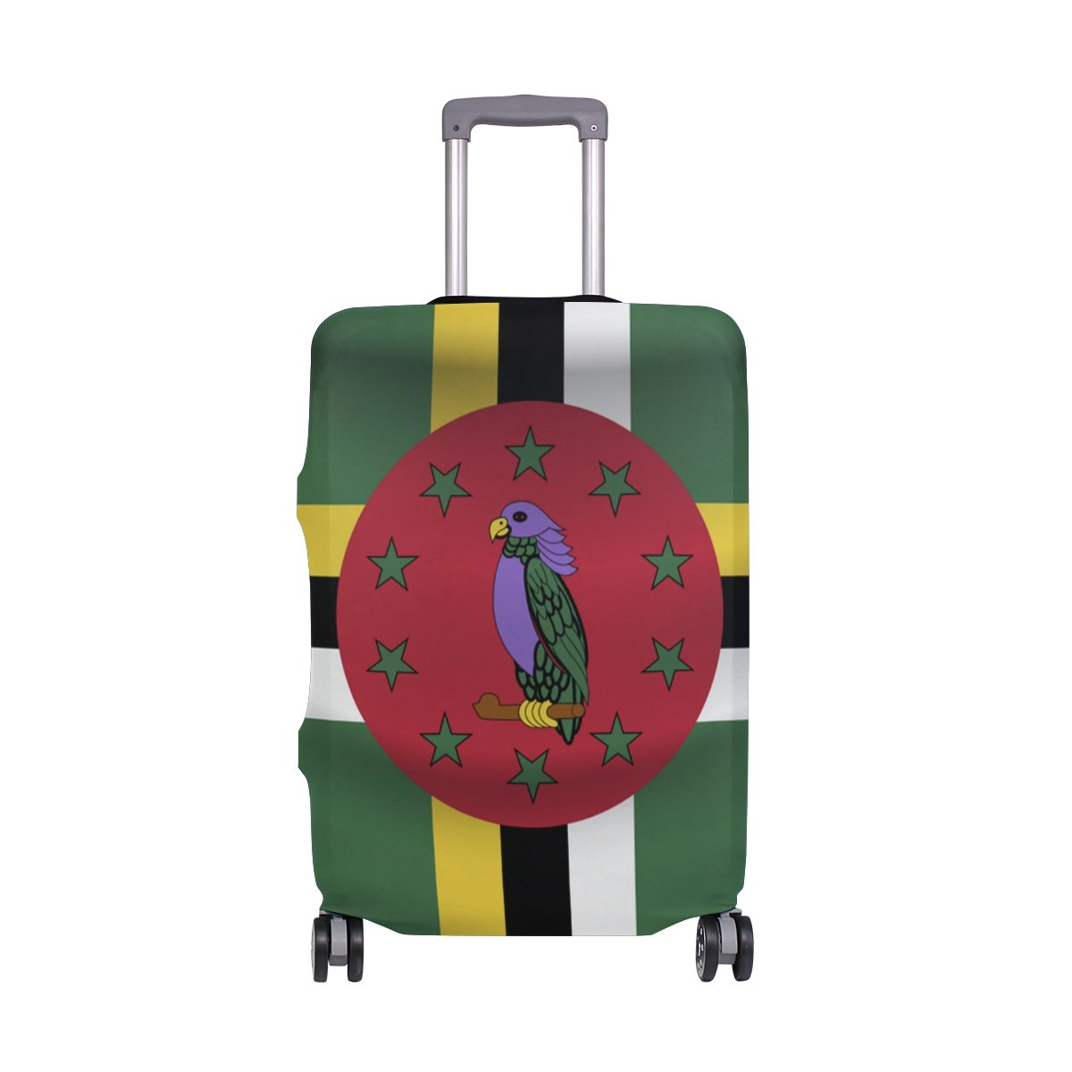 Dominica Flag Travel Luggage Protector Baggage Suitcase Cover Fits 23-26 Inch Luggage by CoolPrintAll