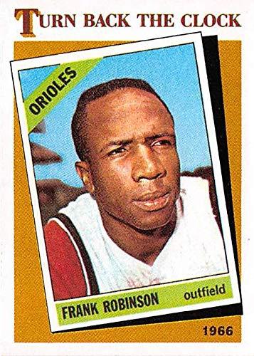- Frank Robinson baseball card Baltimore Orioles Hall of Famer 1986 Topps Turn Back The Clock #404