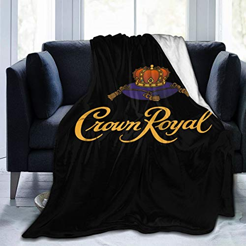 Photo Jocasa Crown Royal Blanket Flannel Fleece Throw Queen Size Lightweight Cozy Couch Bed Soft and Warm Plush Quilt for Thanksgiving, Halloween, 60