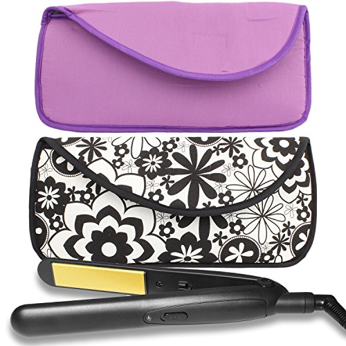 Portable Hot Flat Iron Hair Styling Tools Travel Case by bogo Brands (2 Colors)