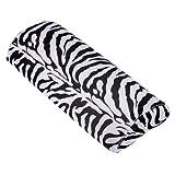 SODIAL(R) Black With White Zebra Stripe Hand Rest Soft Cushion Pillow Nail Art Design Manicure Half Column