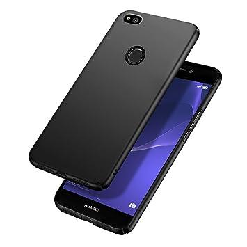Funda Huawei P8 Lite 2017, Carcasa Huawei P8 Lite 2017, POOPHUNS Fundas Carcasas Case Caso para Huawei P8 Lite 2017, Negro, Ultra-Delgado, ...