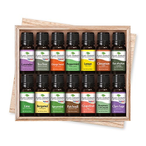Plant Therapy Top 14 Essential Oil Set, Includes 100% Pure, Undiluted, Therapeutic Grade Oils 10 mL each 51mFW5tGt3L