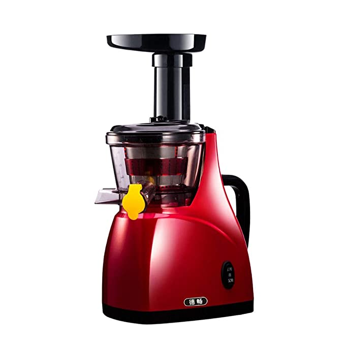 Juicer home low speed automatic multi-function mini juicer (Color : Red)