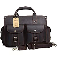 d7ac8bc6aa98 EverVanz Tote Handmade Vintage Leather Briefcase without Flap for 15 Inch  Laptop Bag Shoulder Messenger Bag