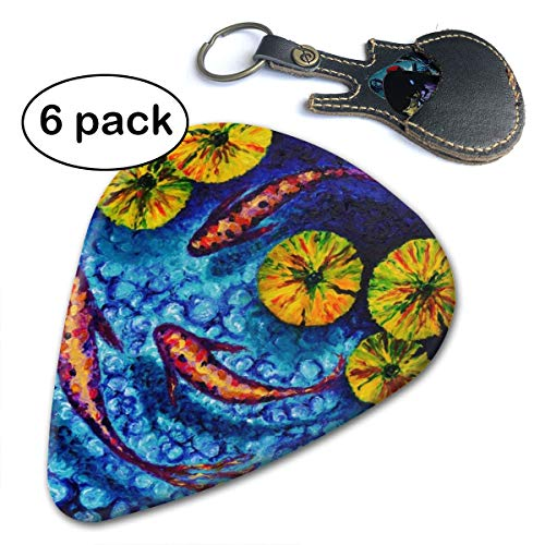 (Leopoldson Rocky Pond Koi Guitar Picks Guitar Accessories (6pc) Celluloid Guitar Picks Plectrums For Musice Gift Music Lover)