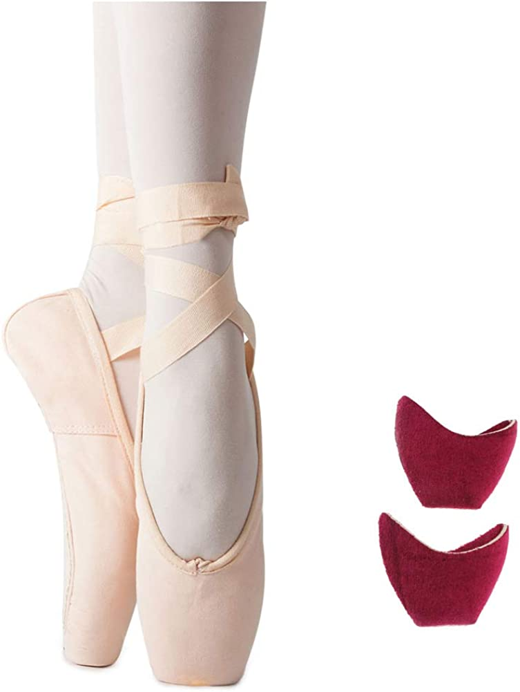 MSMAX Womens Pointe Shoes Ballet Dance Performa Shoe