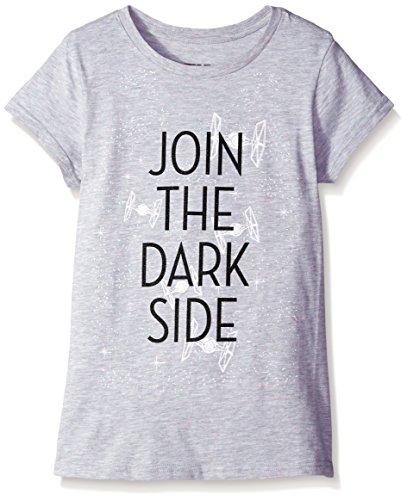 Star Wars Little Girls' T-Shirt, Dark Side Heather Confetti, 4-5/X-Small