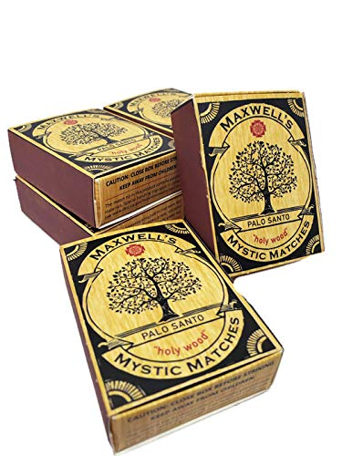 6 pack Palo Santo Incense Match Sticks | Peruvian ''Holy Wood'' Large Palo Santo Wood Sticks ● Smudging, Energy Clearing, Stress Relief, Relaxation, Healing, Meditation from Peru by Maxwell's Mystic Matches (Image #7)