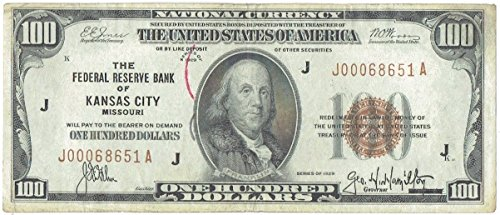 1929 $100 Brown Seal Federal Reserve Bank Note