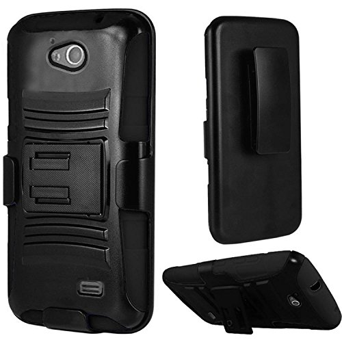 Pear Faceplate (HR Wireless Cell Phone Case for ZTE Overture 2 - Black/Black)