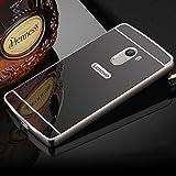 AE (TM) Luxury Metal Bumper + Acrylic Mirror Back Cover Case For Lenovo Vibe K5 NOTE - GREY