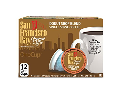 San Francisco Bay Donut Shop Blend Coffee Capsule, Compatible with Keurig K-Cup Brewers, 12-Count