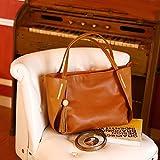 Kattee Women's Genuine Leather Tote Handbags, Top