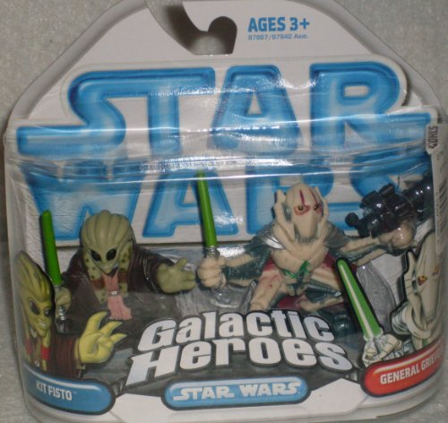 Star Wars Galactic Heroes Kit Fisto and amp; General (Star Wars Magnaguard Fighter)