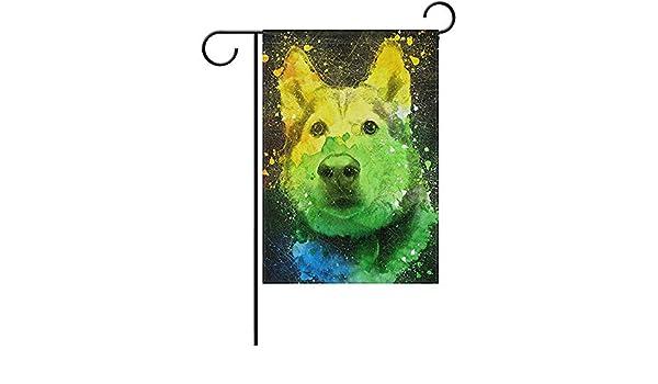 Archiba Víbora Azul Colorido Retrato de Husky Bandera de jardín ...