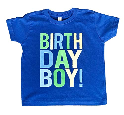 SoRock Birthday Boy Toddler Kids T-Shirt Royal Blue 12-18 Months -