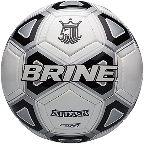 Brine Salmuera Ataque Pelota de fútbol, Color Negro, tamaño 5 ...